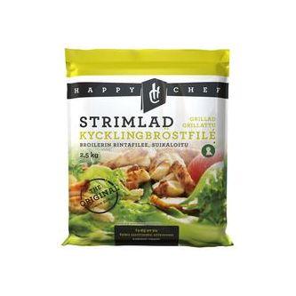 Kyckling Grillad & Strimlad 10mm Fryst 2.5kg Happy Chef