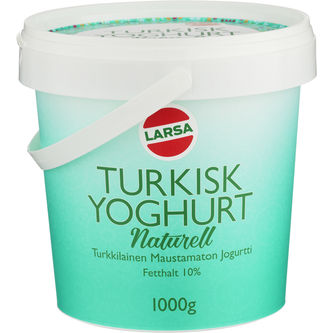 Yoghurt Turkisk Naturell 1000g Larsa Foods
