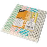 Sugrör Papper Stripes Papstar 100p