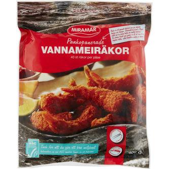 Vannameiräka Pankopanerad Fryst 400g Miramar