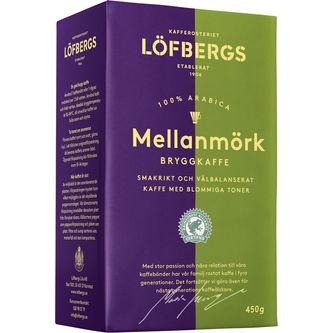 Mellanmörk Bryggkaffe 450g Löfbergs