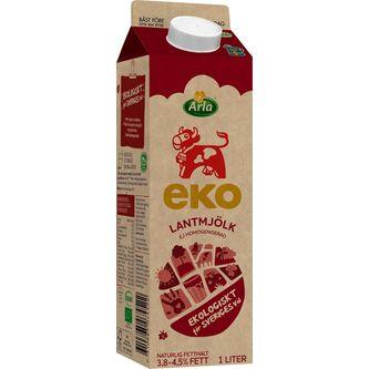 Lantmjölk Eko 3,8-4,5% 1l Arla Ko