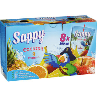Sappy Cocktail 8-pack 8p/20cl Sappy
