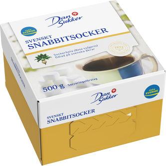 Snabbitsocker Bordsförpackning 500g Dansukker