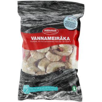 Vannameiräka med Skal 16/20 Fryst 800g Miramar