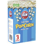 Micropop Saltade Popcorn Olw 3x80g