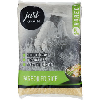 Ris Parboiled 5kg Just Grain