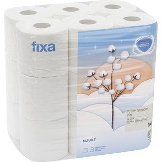 Toalettpapper Vitt Mjukt 18-p Fixa