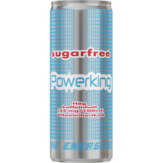 Energy Drink Sockerfri Burk 25cl Powerking