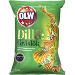 Chips Dill & Gräslök Olw 175g
