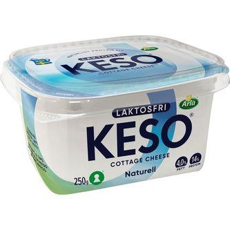Keso Naturell Laktosfri 4% 250g Keso