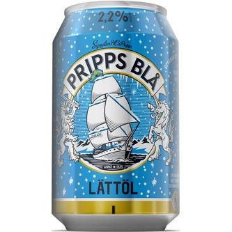 Pripps Blå 2.2% Lättöl 33cl Pripps Blå