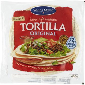 Tortilla Original Soft 12p/480g Santa Maria