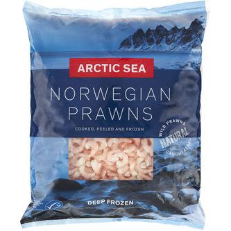 Ishavsräkor 200/300 Skalade Frysta 2.25kg Arctic Sea
