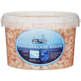 Räkor i Lake Sjökokta Handskalade 1,5kg Feldts
