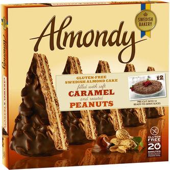 Mandeltårta Kola & Jordnötter Fryst 1.2kg Almondy