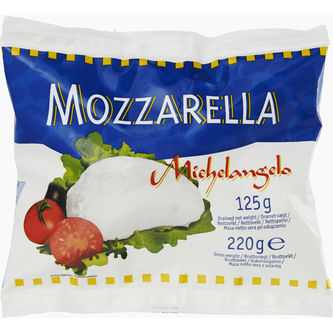 Mozzarella 19% Michelangelo 125g Wernersson