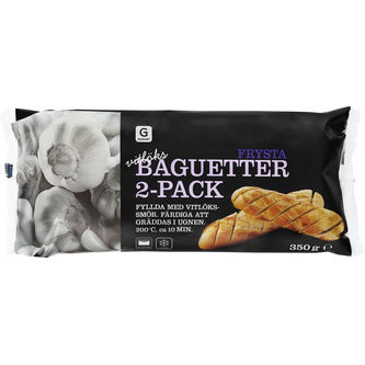 Baguetter Vitlök Frysta 2p/350g Garant