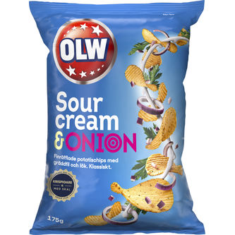 Sourcream Onion Chips 175g Olw