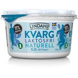 Kvarg Naturell Laktosfri 0,2% Lindahls 500g