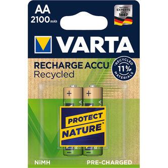 Batteri Aa Uppladdningsbar 2p Varta