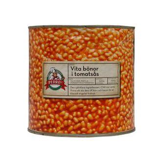 Vita Bönor i Tomatsås 2,65kg Pedros