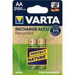 Batteri Aa Uppladdningsbar Varta 2p