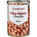 Vita Bönor i Tomatsås Eldorado 420g