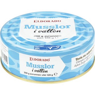 Musslor i Vatten 200/120g Eldorado