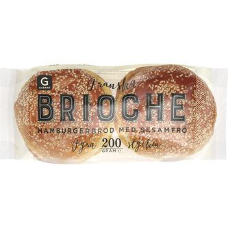 Brioche Hamburgerbröd Sesam 200g Garant