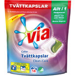 Tvättkapslar Color Clean + Care Via 14p