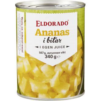 Ananas Bitar 567/340g Eldorado