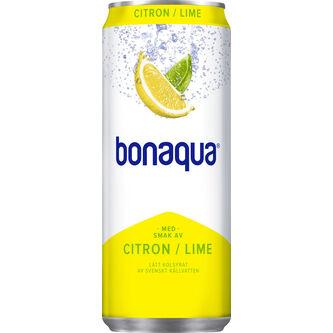 Citron Lime Kolsyrat Vatten Burk 33cl Bonaqua