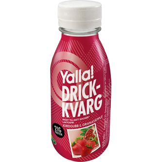 Drickkvarg Jordgubb Granatäpple Laktosfri 350ml Yalla
