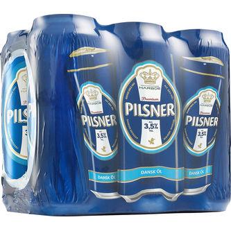 Pilsner Öl 3.5% 6-pack Burk 6x50cl Harboe