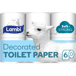Decorated Soft&strong Toalettpapper Lambi 6st