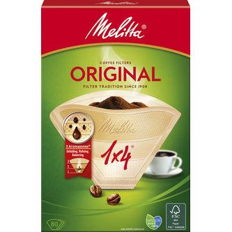 Kaffefilter 1x4 Oblekt 80st Melitta