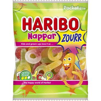 Nappar Sour 80g Haribo