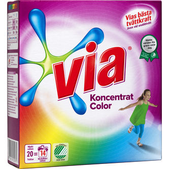 Color Kulörtvätt Tvättmedel 750g Via