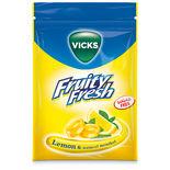 Lemon Mentol Sockerfri Halstablett Vicks 72g