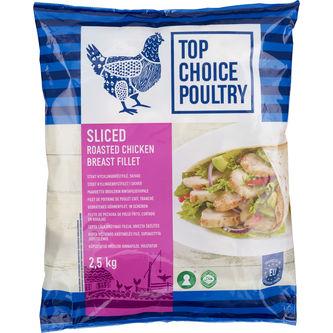 Kycklingfilé Skivad Grillad Fryst 2,5kg Top Choice