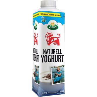 Yoghurt Naturell 3% 1000g Arla Ko