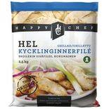 Kyckling Innerfilé Grillad Fryst Happy Chef 2.5kg