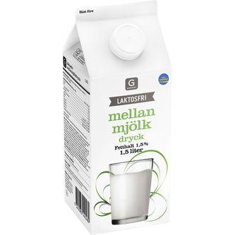 Mellanmjölk Laktosfri 1,5% 1.5l Garant