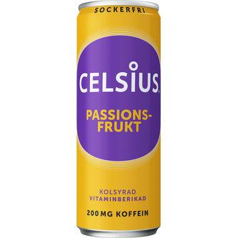 Celsius Passionsfrukt Energidryck Burk 35.5cl Celsius
