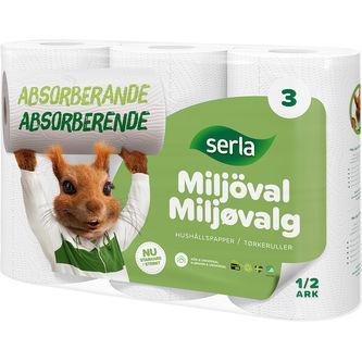 Hushållspapper Miljöval Hushållspapper 3p Serla