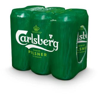 Carlsberg 3.5% Pilsner Öl 6-pack 6p/50cl Carlsberg