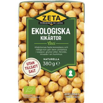 Kikärtor Ekologiska 380/230g Zeta