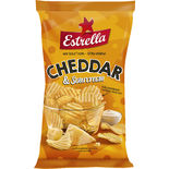 Cheddar Sourcream Chips Estrella 175g