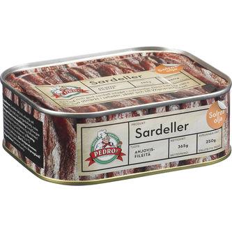 Sardeller 365/250g Pedros